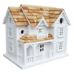 "Check out this item at One Kings Lane! 12"" Kingsgate Cottage Birdhouse, White"