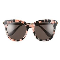 Women's Gentle Monster Cuba 55Mm Sunglasses (£205) ❤ liked on Polyvore featuring accessories, eyewear, sunglasses, glasses, oversized sunglasses, over sized sunglasses, oversized glasses, metallic sunglasses and oversized eyewear