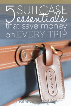 Travel isn`t cheap, but there are some pretty awesome savings opportunities depending on what you pack. These 5 suitcase essentials are my absolute favorites and will save money on every trip! Travel Hacks, Travel Info, Travel Ideas, Cheap Travel, Budget Travel, Travel Bugs, Travel Gadgets, Travel Advice, Traveling Tips