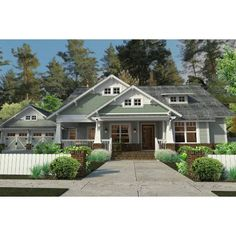 House Plans One Story, Cottage House Plans, Craftsman House Plans, Cottage Homes, Craftsman Exterior, Cottage Exterior, Lake Cottage, Small Bungalow, Craftsman Style Bungalow