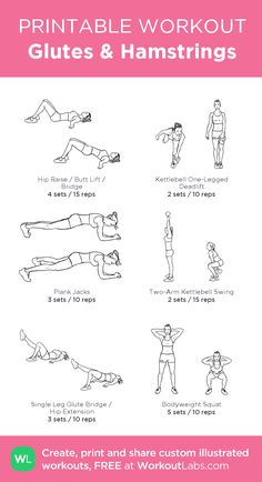 Strengthen your hamstrings & glutes to jump higher and move quicker! #workout