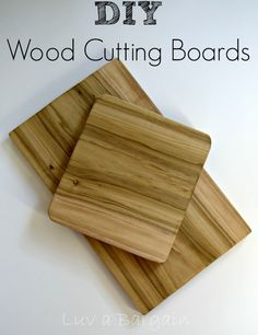 DIY Wood Cutting Boards These are so, so easy to make.