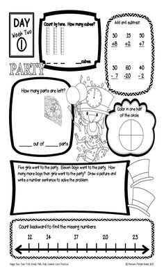 Christmas & Winter Math Worksheets for 2nd, 3rd and 4th