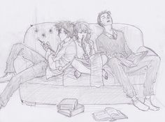Harry Potter Trio by burdge-bug  love her fan art :)