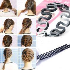 Women Lady Fashion Hair Styling Clip Stick Bun Maker Braid Tool Kit Accessories