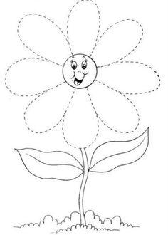 voorbereidend schrijven bloem lente