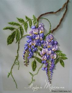 wisteria silk ribbon
