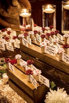 Flower wine cork place card holders make a romantic & whimsical place card display at this rustic theme vineyard wedding. Card Table Wedding, Seating Chart Wedding, Wedding Place Cards, Beach Wedding Favors, Bridal Shower Favors, Wedding Souvenir, Name Card Holder, Place Card Holders, Gift Table