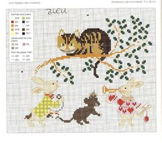 Gallery.ru / Фото #25 - Le Chats - Chepi Cross Stitch Samplers, Cross Stitch Charts, Cross Stitch Embroidery, Cross Stitch Patterns, Alice In Wonderland Cross Stitch, Alice In Wonderland Vintage, Blackwork, Stitch Character, Cross Stitch Animals