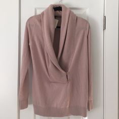 NWT Ann Taylor Sweater! Light purple/mauve color. Thick knit around neck--feels like a scarf! Received as gift and never wore--still has tags but w/out original price. (33% wool, 33% viscose...5% cashmere) Open to any and all questions about this beautiful sweater! Ann Taylor Sweaters