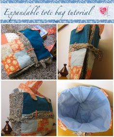 Expandable tote bag tutorial | Sewn Up by TeresaDownUnder