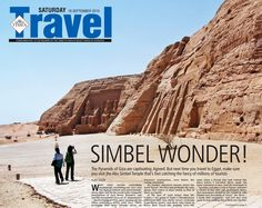 One of my Travelogues on Abu Simbel, Egypt, that was carried in The Times of India...