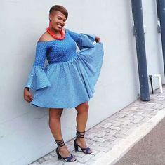 #seshweshwe #mididresses #shweshwe #majoress Shweshwe Dresses, Ankara Dress, African Fashion, African Style, Contemporary Fashion, Dress Making, Your Style, Cold Shoulder Dress, Mens Fashion