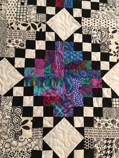 Wizard's Chess quilt, detail, by Bountiful Heirlooms. McCall's Quick Quilts June-July 2017