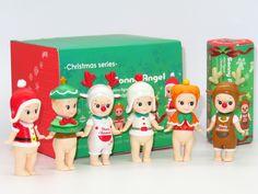 """סוני אנג 'ל סוני אנג' ל 6 יח'\סט מיני סדרת חג המולד בובות PVC פעולה איור אסיפה דגם צעצוע 8 ס""""מ KT2530"""