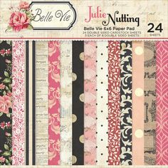 JULIE NUTTING DOLLs  Paper - Belle Vie ~ 6x6 Pad - Prima - Photo Play - Cardstock 6x6 by BarbsCraftSupplies on Etsy