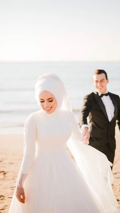 There are different rumors about the annals of the marriage dress; Bridal Hijab, Wedding Hijab, Wedding Poses, Wedding Couples, Wedding Bride, Cute Muslim Couples, Muslim Girls, Cute Couples Goals, Muslim Wedding Dresses