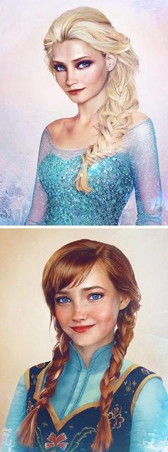 This is what Frozen's heroines would look like in the real world, according to artist Jirka Väätäinen.