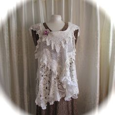 Romantic Doily Top shabby cottage country by TatteredDelicates, $234.00