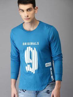 T Shirt in navyblau mit einem Biker-,Chopper-/&Old Schoolmotiv Modell Blue Flat