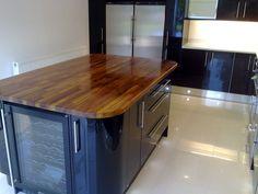 Island Kitchen, Kitchen Cupboards, Walnut Worktops, Black Gloss Kitchen, Chris Lowe, Black Kitchens, Colour Schemes, High Gloss, Carpentry
