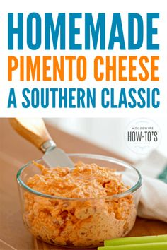 Homemade Pimento Cheese – A classic Southern appetizer dip or spread … - Appetizers easy Homemade Pimento Cheese, Pimento Cheese Recipes, Pimiento Cheese, Pimento Cheese Recipe Pioneer Woman, Cheddar Crackers Recipe, Pimento Cheese Sandwiches, Southern Appetizers, Southern Recipes, Salads