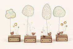 mixed media metalwork sculptures by Josephine Gomersall designs Map Crafts, Wire Crafts, Diy And Crafts, Craft Projects, Projects To Try, Paper People, Craft Quotes, Small Sculptures, Wire Art
