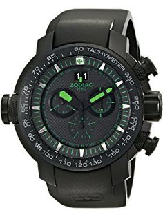 Zodiac ZMX Men's Special Ops Black Stainless Steel Watch with Rubber Band ❤ Zodiac Watches Black Stainless Steel, Stainless Steel Watch, Sport Watches, Watches For Men, Men's Watches, Zodiac Watches, Luxury Watch Brands, Special Ops, Pre Owned Watches