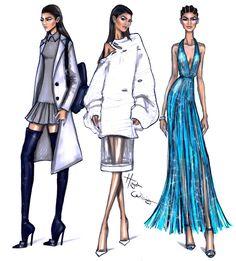 #Hayden Williams Fashion Illustrations: #Zendaya PFW looks by Hayden Williams