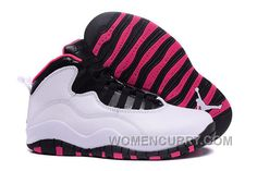 "2e6180d959a511 2017 Girls Air Jordan 10 ""Vivid Pink"" For Sale Authentic"