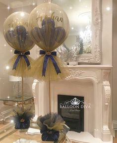Balloons can be one of the most inexpensive and simple decoration for any party, weddings or holiday celebrations. Shower Party, Baby Shower Parties, Baby Shower Themes, Baby Boy Shower, Baby Shower Decorations, Tulle Balloons, Balloon Garland, Balloon Party, Balloon Ideas