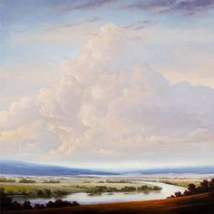 Victoria Adams Oil Paintings are so serene Oil Paintings, Rivers, Make Me Smile, Serenity, Landscapes, Victoria, Clouds, Artwork, Photography