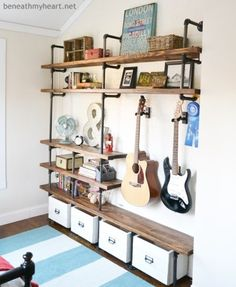 14 Incredible Ways to Use Industrial Pipe {decorate, craft, etc} #useindustrialpipesforhomedecor