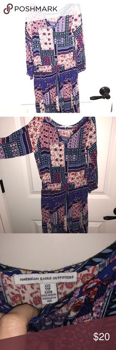 American Eagle tiny flowery pattern dress Adorable print Xxs in my opinion will fix an Xs flowery patterned dress adjustable shoulders super cute and flirtatious Retail $55 Get for a steal I look st all offers so if interested offer dast American Eagle Outfitters Dresses
