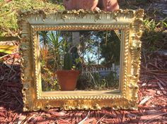 Gold Mirrors Wall Mirror Gold Ornate Mirror by MulberryInkVintage