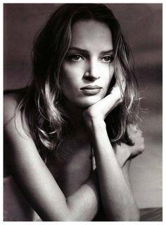 Uma Thurman, 1992  Photographed by Albert Watson