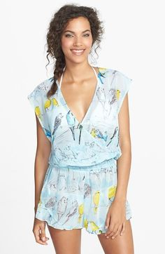 Ted Baker London 'Canary Bird' Surplice Cover-Up Romper available at #Nordstrom