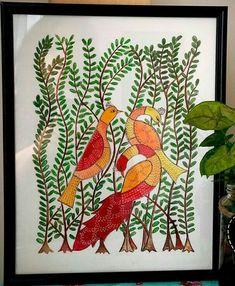 Orange Saree, T Shirt Painting, Madhubani Art, Indian Folk Art, Indian Art Paintings, Madhubani Painting, Buddha Art, Udaipur, Tribal Art