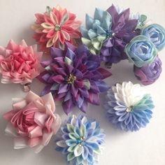 つまみ細工の花とりどりの画像 | 東京広尾 つまみ細工教室「花びら」