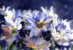 Daisies Watercolor Print - Daisy Painting - Alisa Wilcher