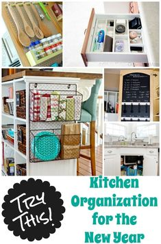 Love these kitchen organizational ideas!