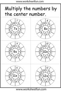 12-20 times table - twenty four worksheets