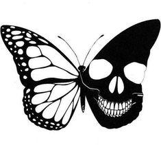 Illustration - illustration - illustration : – Picture : – Description -Read More – Skull Butterfly Tattoo, Butterfly Stencil, Tattoo Drawings, Art Drawings, Skull Artwork, Bild Tattoos, Skull Tattoos, Art Tattoos, Sleeve Tattoos