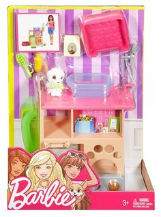 Barbie Indoor Furniture Pet Station and Puppy Playset - Assortment Ken Doll, Barbie Doll Set, Barbie Sets, Doll Clothes Barbie, Barbie Doll House, Barbie Dream, Barbie And Ken, Barbie Doll Accessories, Room Accessories