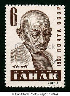 Gandhi stamp of Russia More about #stamps: http://sammler.com/stamps/ Mehr über #Briefmarken: http://sammler.com/bm
