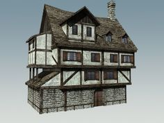 3d model medieval house - Medieval House... by WesCary