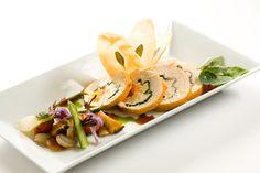 creative chicken entree presentation   Windows Catering Company