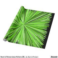 Burst of Green Lines Pattern (Black Background)