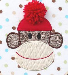 sock monkey applique