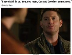 Best 'Supernatural' Quotes from the Season 12 Finale Best Supernatural Quotes, Supernatural Season 12, Supernatural Destiel, Winchester Boys, Crowley, Family Business, Jensen Ackles, Superwholock, Best Shows Ever